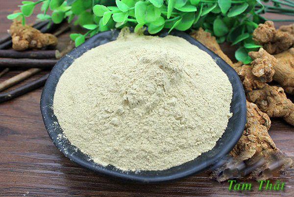 Tam thất là rễ của cây tam thất, còn gọi là sâm tam thất. Trước đây được coi như vị thuốc
