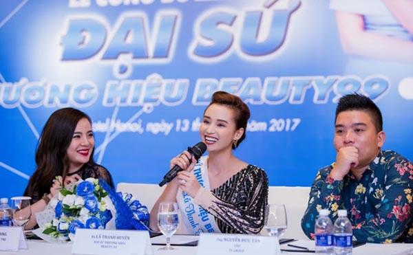 Đại sứ Thương hiệu sản phẩm làm trắng da Beauty 99, cũng là một sản phẩm của Tập đoàn TS Group do bà Nguyễn Thu Trang làm Chủ tịch HĐQT – Diễn viên Lã Thanh Huyền  (Ảnh: IT)