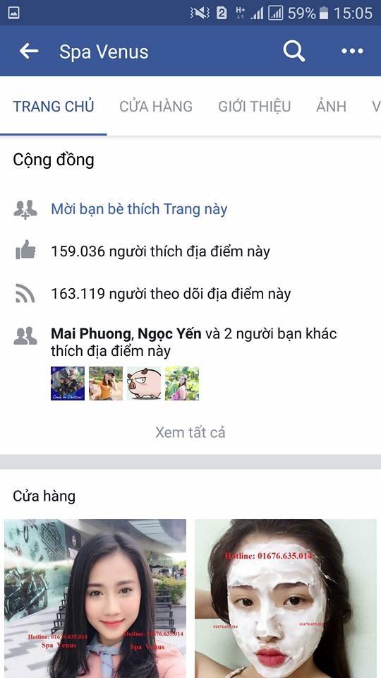 Fanpage bán hàng được nhiều người theo dõi. (Ảnh chụp màn hình)