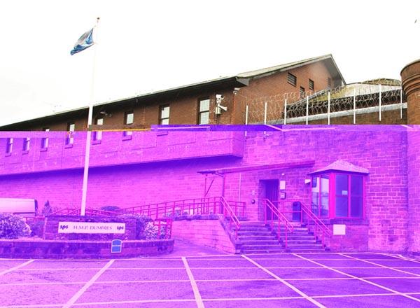 Bên ngoài một nhà tù ở Scotland