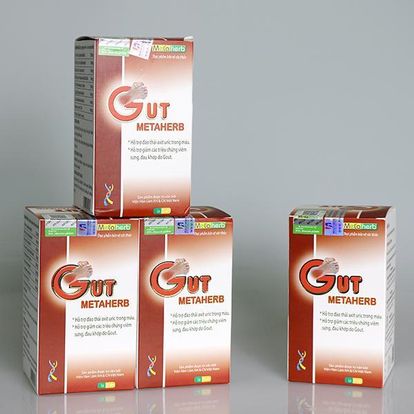 TPCN/Thực phẩm bảo vệ sức khỏe Viên Gut Metaherb được quảng cáo có tác dụng như thuốc chữa bệnh.