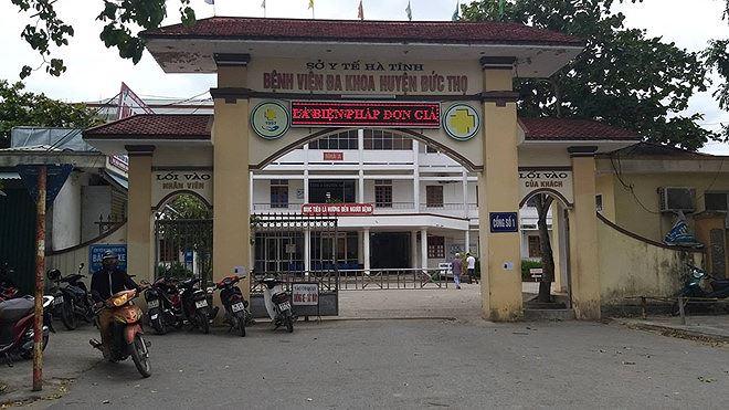 Bệnh viện Ða khoa Ðức Thọ (Hà Tĩnh), nơi xảy ra sự việc
