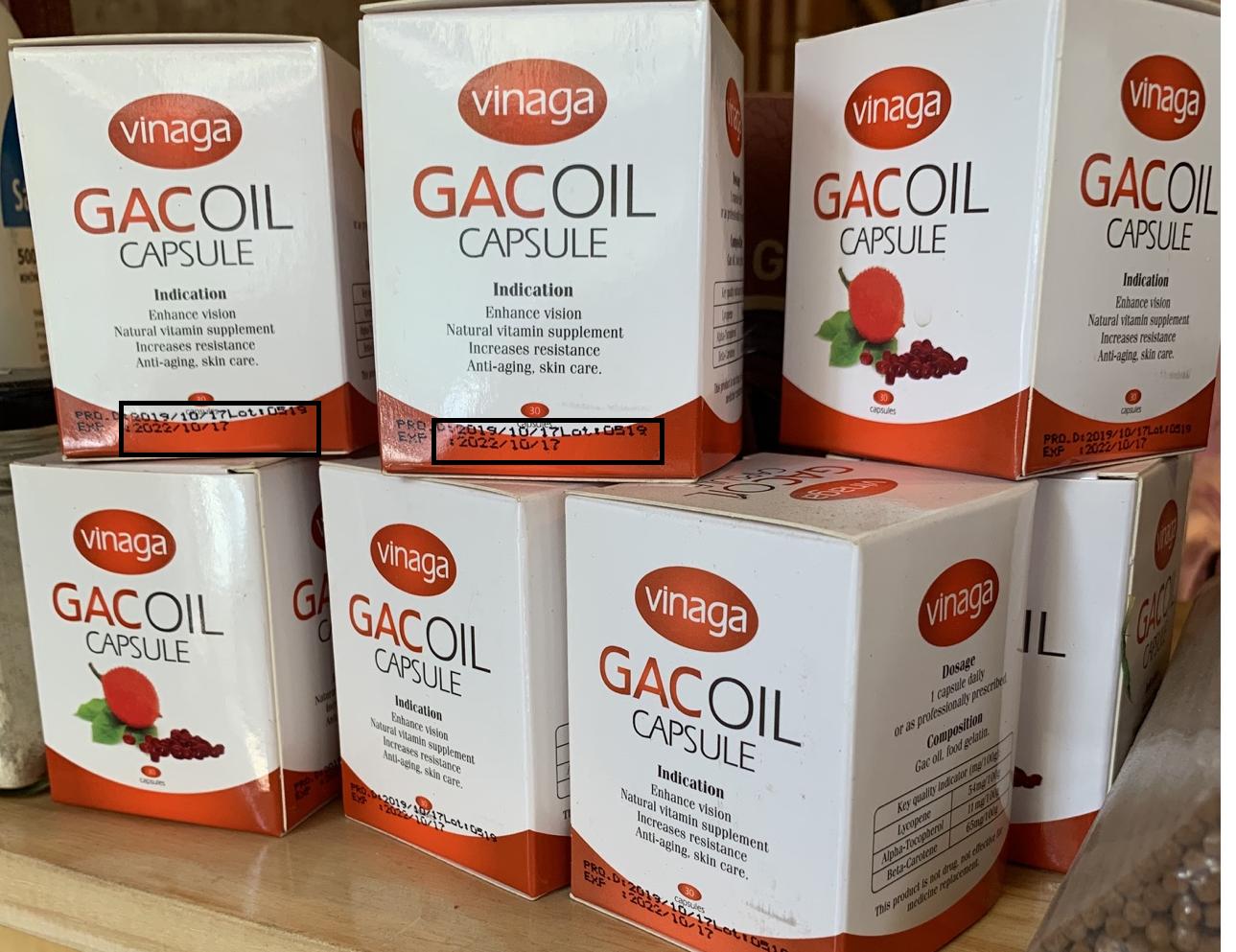 Công ty sản xuất dầu gấc Vinaga bị đình chỉ hoạt động, thu hồi và tiêu hủy hàng loạt sản phẩm