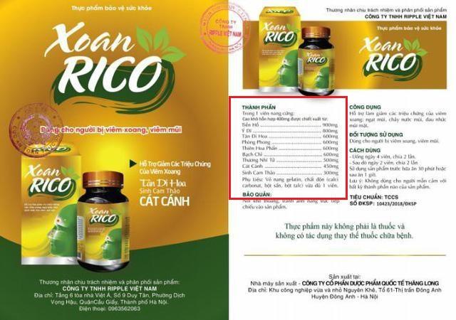 Cẩn trọng thông tin quảng cáo Xoan Rico, Tràng Phục Linh Plus trên một số website