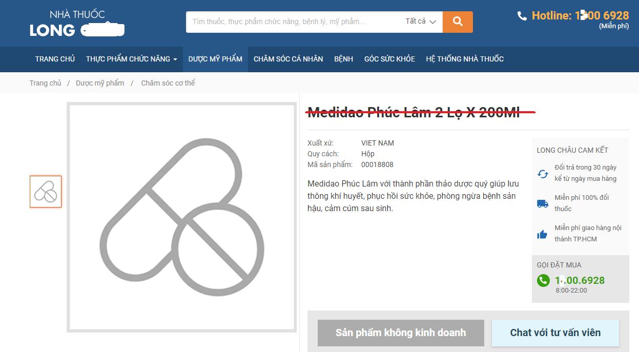 Thu hồi và đình chỉ lưu hành mỹ phẩm Medidao 'thổi phồng' công dụng