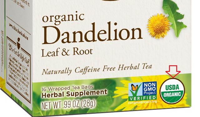 Mẫu sản phẩm đạt tiêu chuẩn hữu cơ USDA ORGANIC