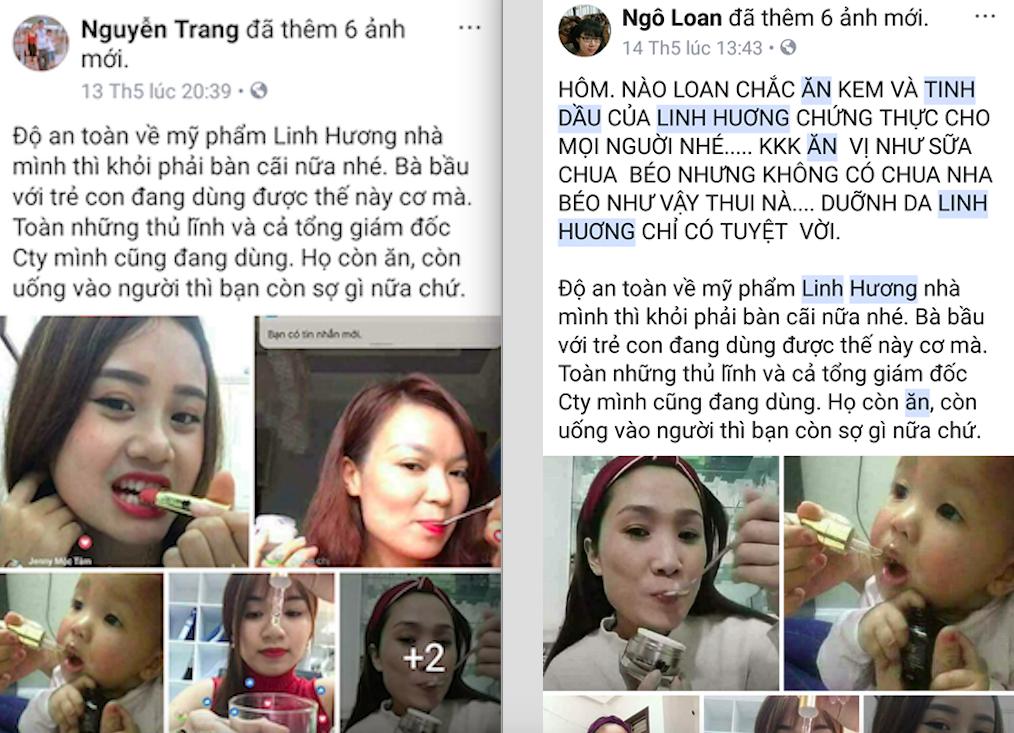 Những lời lẽ mà các đại lý và CTV bán mỹ phẩm Linh Hương sử dụng để 'nổ' với khách hàng