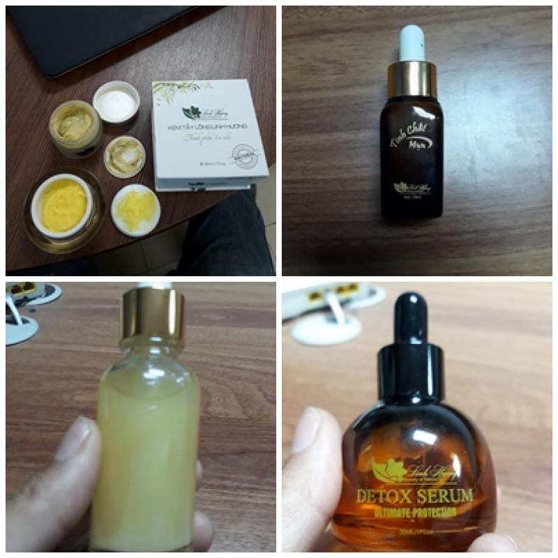 Chị H 'tố' rằng, các sản phẩm mỹ phẩm Linh Hương mà chị mua về có mùi lạ và bị biến đổi màu.